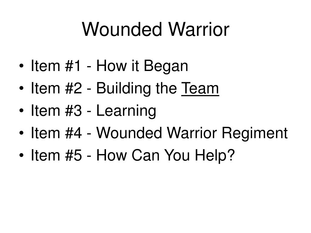 wounded warrior l.