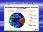 digital wireless technologies