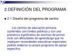 2 definici n del programa