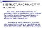 5 estructura organizativa