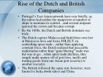 rise of the dutch and british companies
