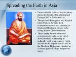 spreading the faith in asia