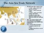 the asia sea trade network