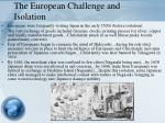 the european challenge and isolation