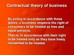 contractual theory of business7
