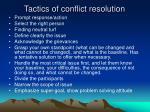 tactics of conflict resolution