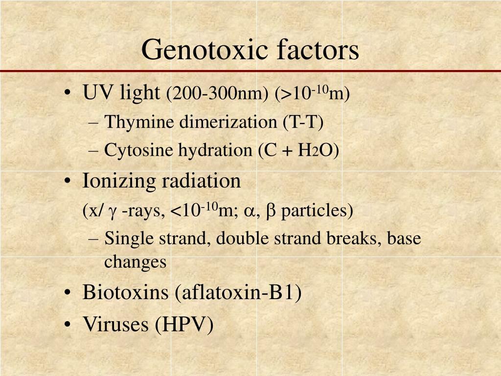 Genotoxic factors