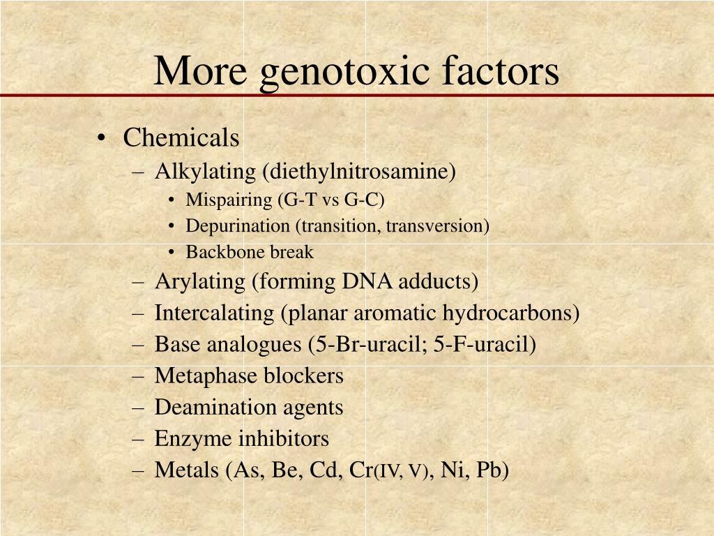 More genotoxic factors