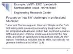 example vanth erc vanderbilt northwestern texas harvard mit engineering research center