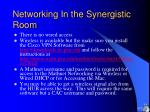 networking in the synergistic room