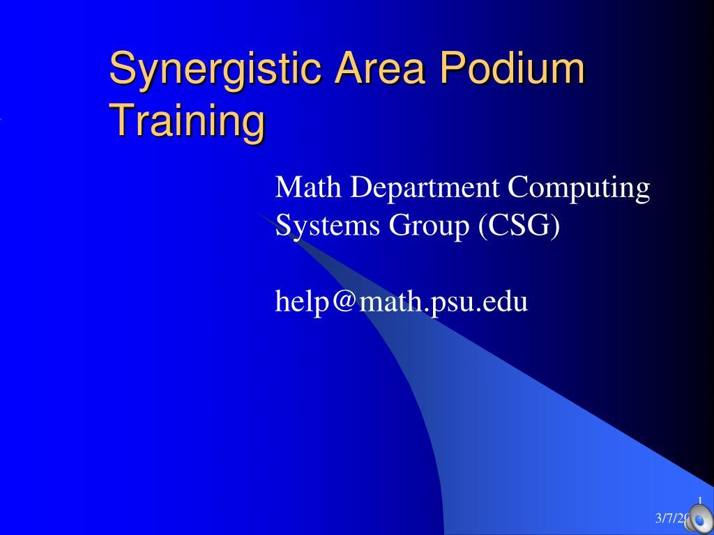 synergistic area podium training l.