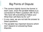 big points of dispute14
