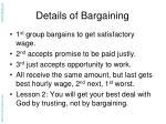 details of bargaining