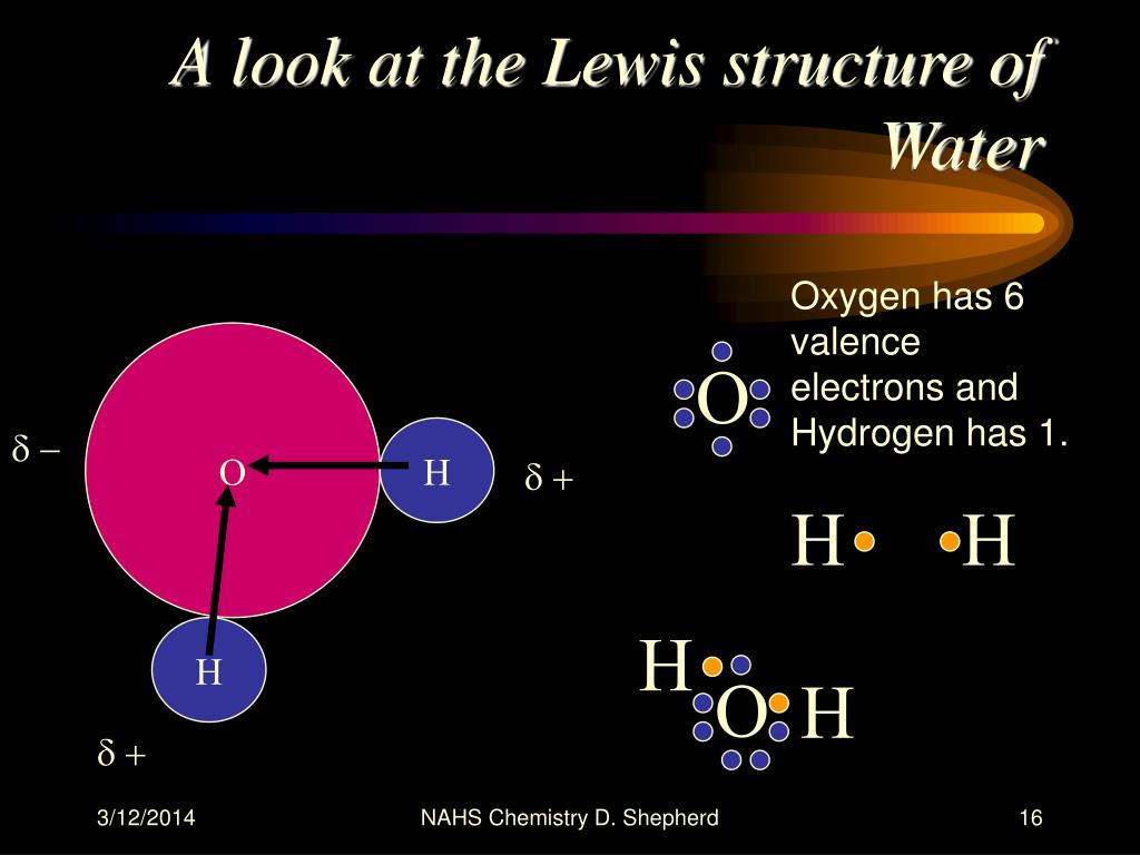 A look at the Lewis structure of Water