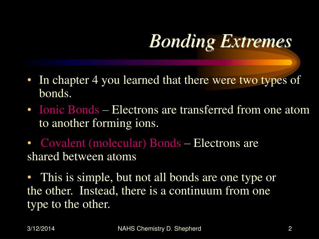Bonding Extremes