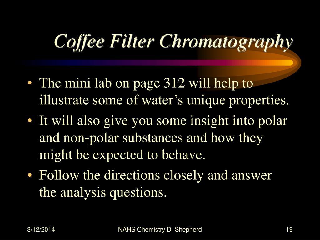 Coffee Filter Chromatography