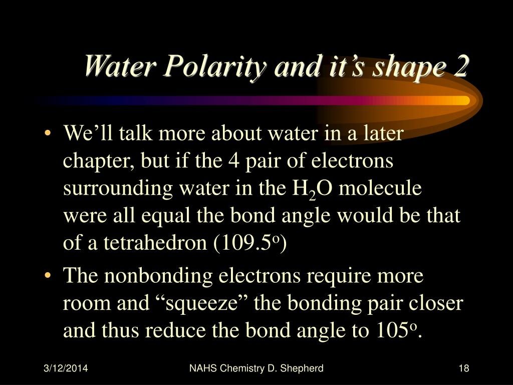 Water Polarity and it's shape 2