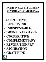 positive attitudes in psychiatry about aa