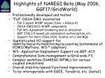 highlights of naregi beta may 2006 ggf17 gridworld