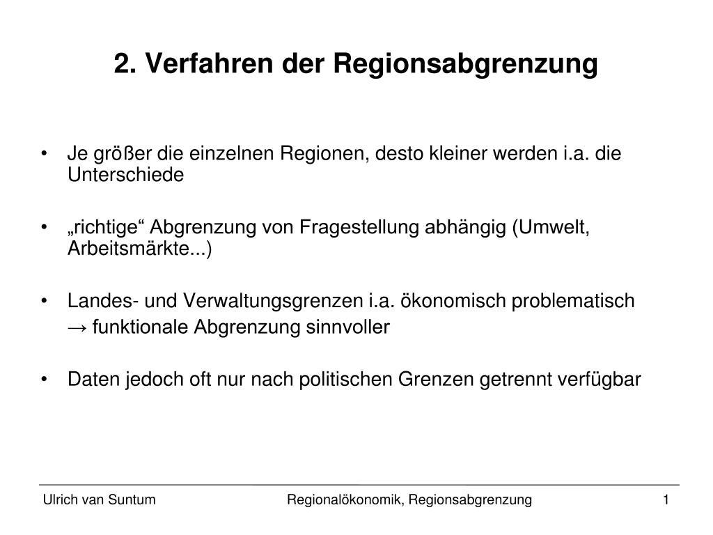 2 verfahren der regionsabgrenzung l.