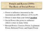 french and raven 1959 the basis of social power