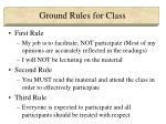 ground rules for class
