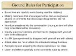 ground rules for participation