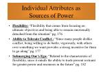 individual attributes as sources of power69