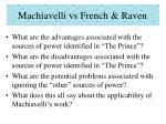 machiavelli vs french raven20