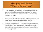 managing with power when is power used43