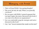 managing with power91