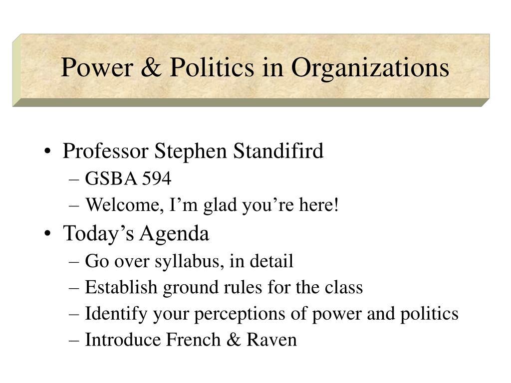 power politics in organizations l.
