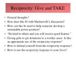 reciprocity give and take25