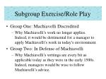 subgroup exercise role play
