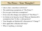 the prince your thoughts