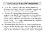 the social basis of behavior