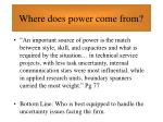 where does power come from54