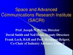 space and advanced communications research institute sacri