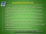 current initiatives