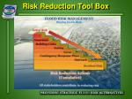 risk reduction tool box