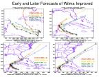 early and later forecasts of wilma improved