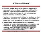 a theory of change