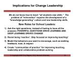 implications for change leadership