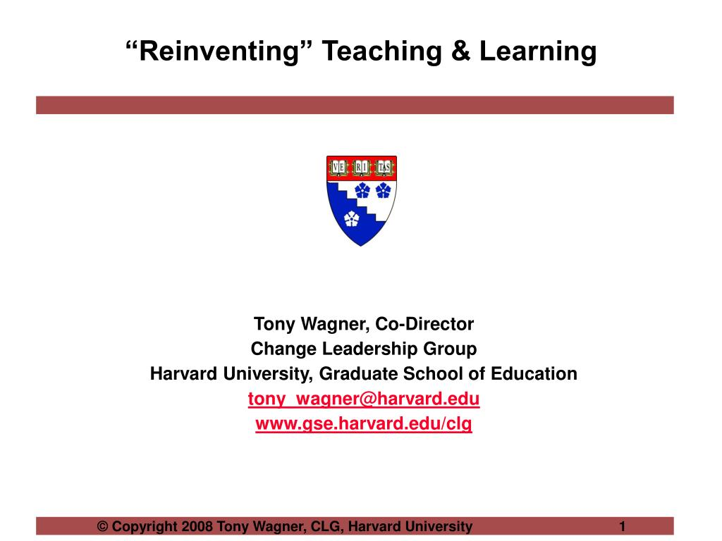 reinventing teaching learning l.