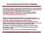 sources resources further readings