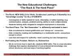 the new educational challenges the rock the hard place