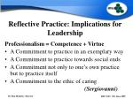 reflective practice implications for leadership