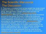 the scientific manuscript the discussion114