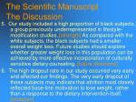 the scientific manuscript the discussion116
