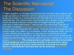 the scientific manuscript the discussion117